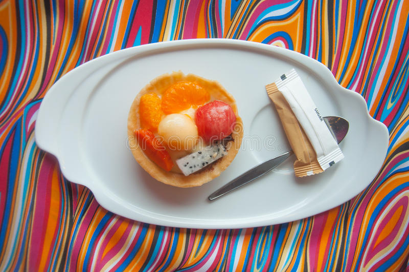 Tartlets de la fruta (sandía, cantalupo, anaranjados) imágenes de archivo libres de regalías