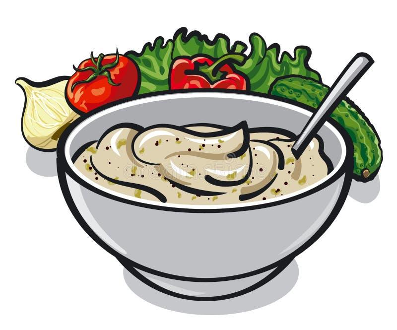 Tartre de sauce illustration de vecteur