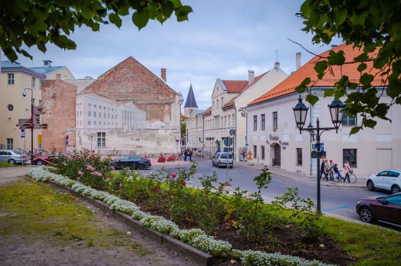 Tartu, Эстония Ратуша Tartu стоковые фотографии rf