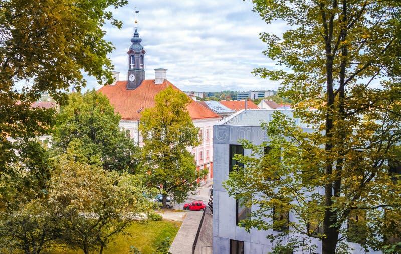 Tartu, Estonia Ayuntamiento Tartu imagenes de archivo