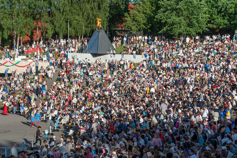 Tartu/Estonia - 22 de junio de 2019: Festival de la canción de Tartu foto de archivo libre de regalías