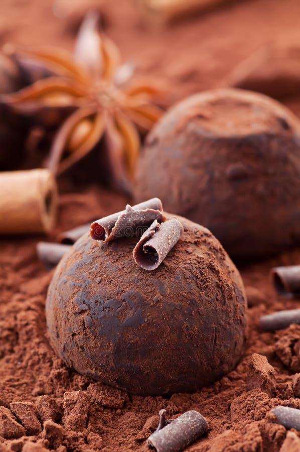 Tartufo di cioccolato fotografie stock libere da diritti