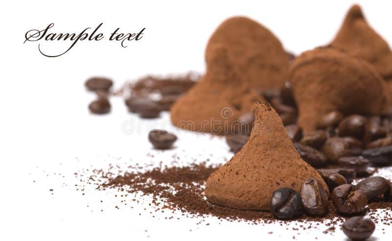 Tartufo di cioccolato fotografie stock