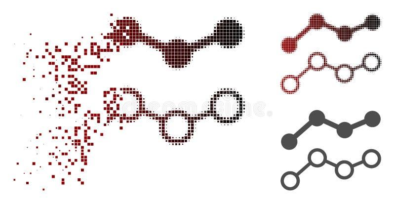 Tarty Pixelated Halftone Wykazywać tendencję ikonę royalty ilustracja