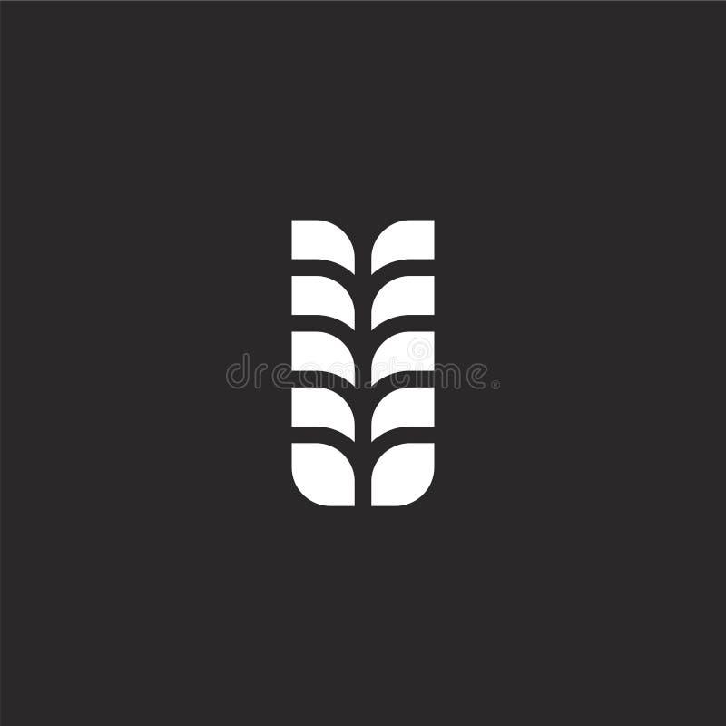 Tarwepictogram Gevuld tarwepictogram voor websiteontwerp en mobiel, app ontwikkeling tarwepictogram van gevulde geïsoleerde bieri stock illustratie