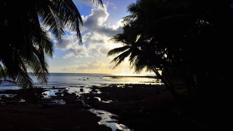 Sunset at Sella Bay royalty free stock image