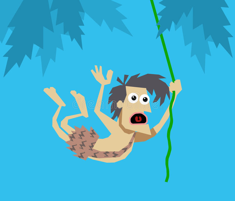Tarzan royalty free illustration