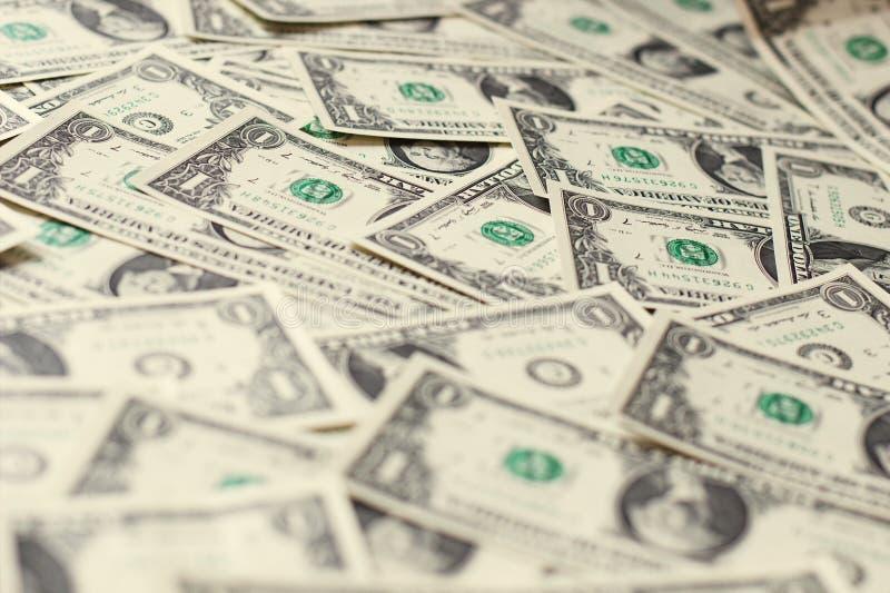 1 tas de billets de banque des dollars des Etats-Unis photos stock