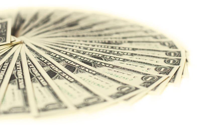 1 tas de billets de banque des dollars des Etats-Unis images libres de droits