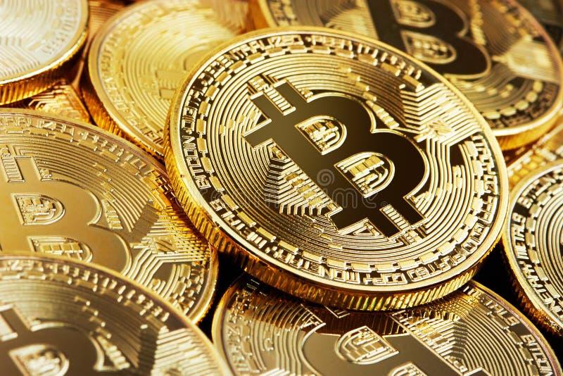 Tas de Bitcoin d'or photos stock