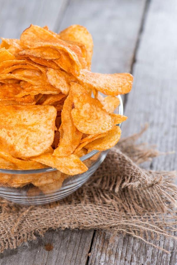 Tas de Paprika Potato Chips photo stock
