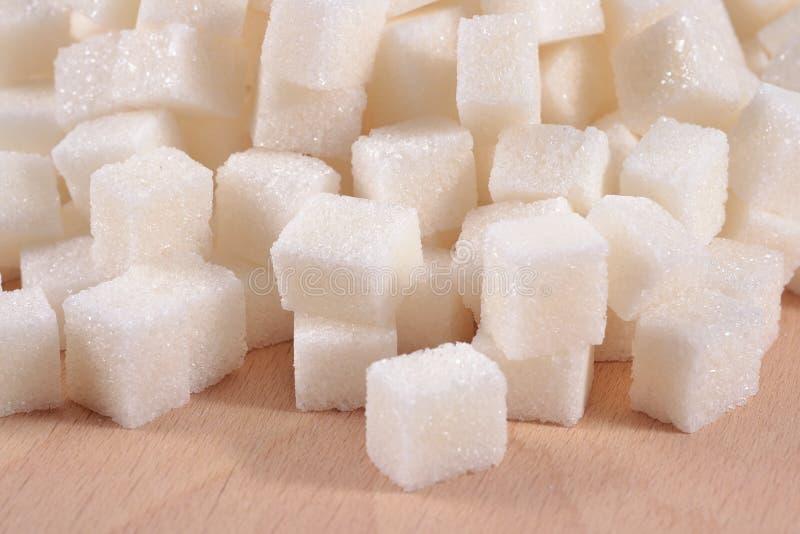 Tas de sucre raffiné image libre de droits