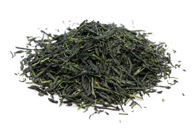 Tas de thé vert japonais photographie stock