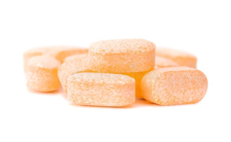 Tas des comprimés de vitamine C photos libres de droits