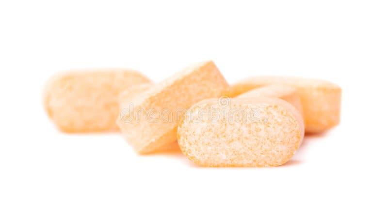 Tas des comprimés de vitamine C image libre de droits