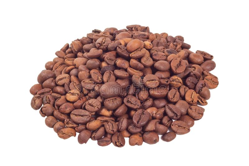 Tas des grains de café photos stock