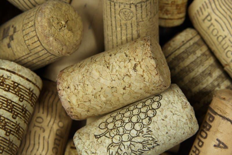 tas des lièges de vin image stock