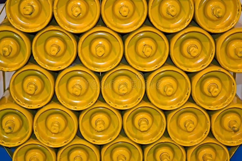 Tas jaune de ballon, diversité moderne d'industrie, image libre de droits