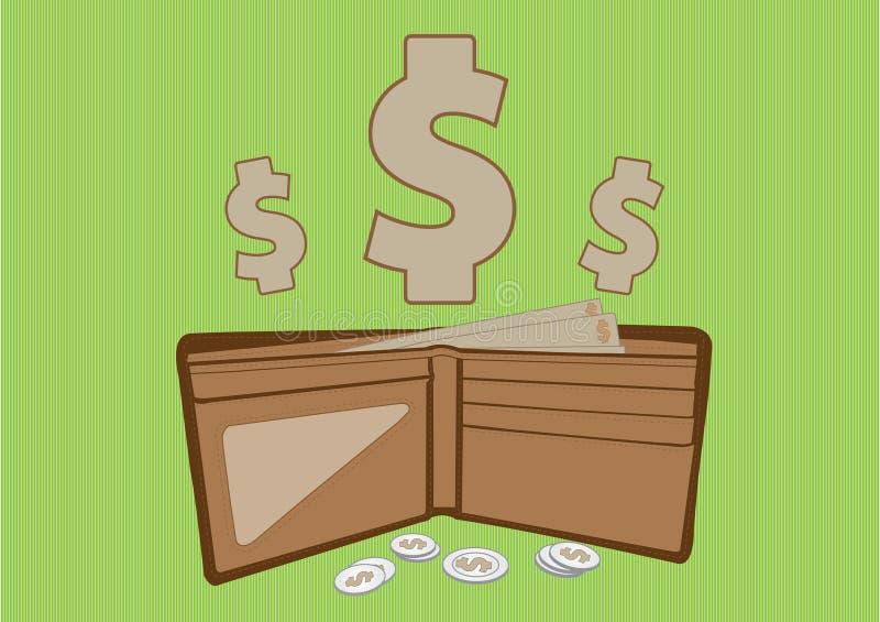 Tasca dei soldi illustrazione vettoriale