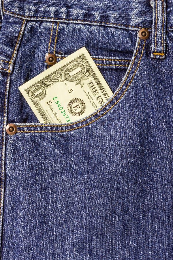 Tasca delle blue jeans fotografia stock