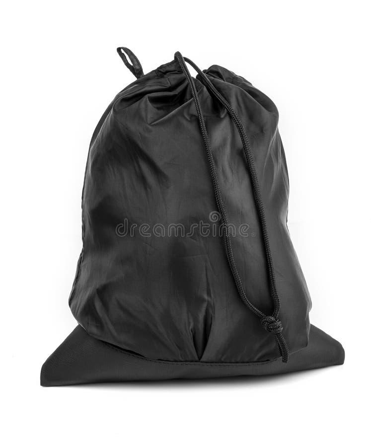 Tasche im Schwarzen auf weißem Hintergrund lizenzfreies stockbild