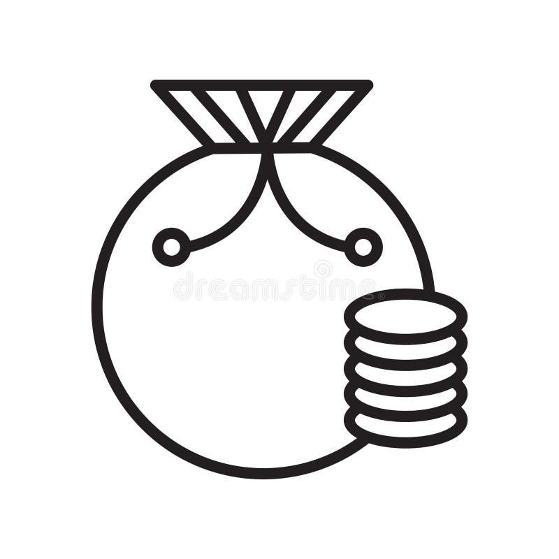 Tasche mit Kontrolleur-Spielikonenvektorzeichen und -symbol lokalisiert auf w stock abbildung