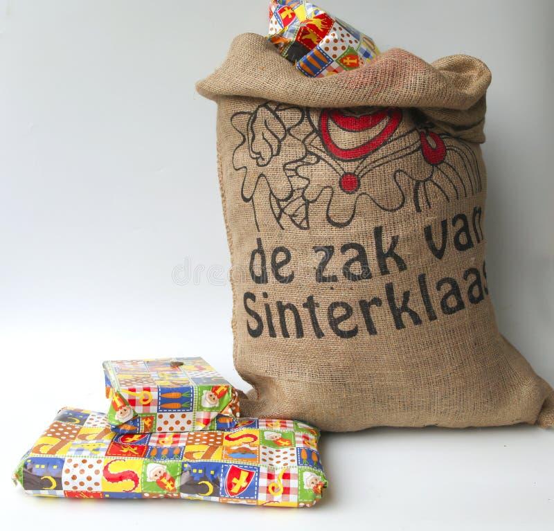 Tasche von Sinterklaas stockbild