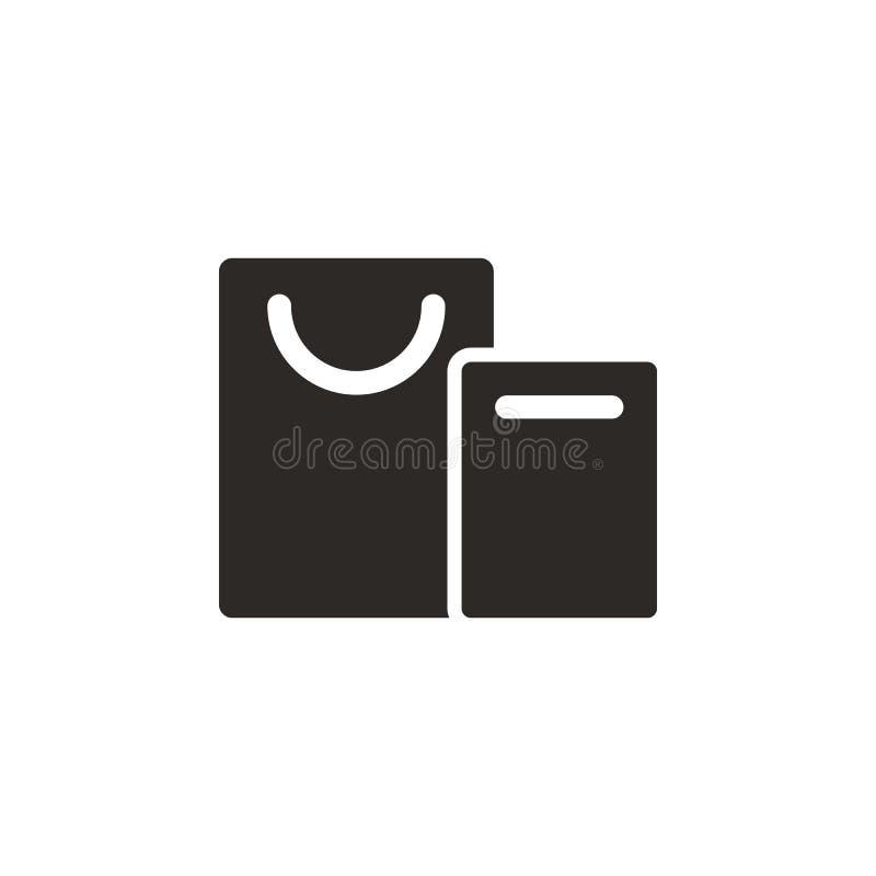 Taschen, Einkaufsvektorikone Einfache Elementillustration von UI-Konzept Taschen, Einkaufsvektorikone Finanzkonzeptvektor lizenzfreie abbildung