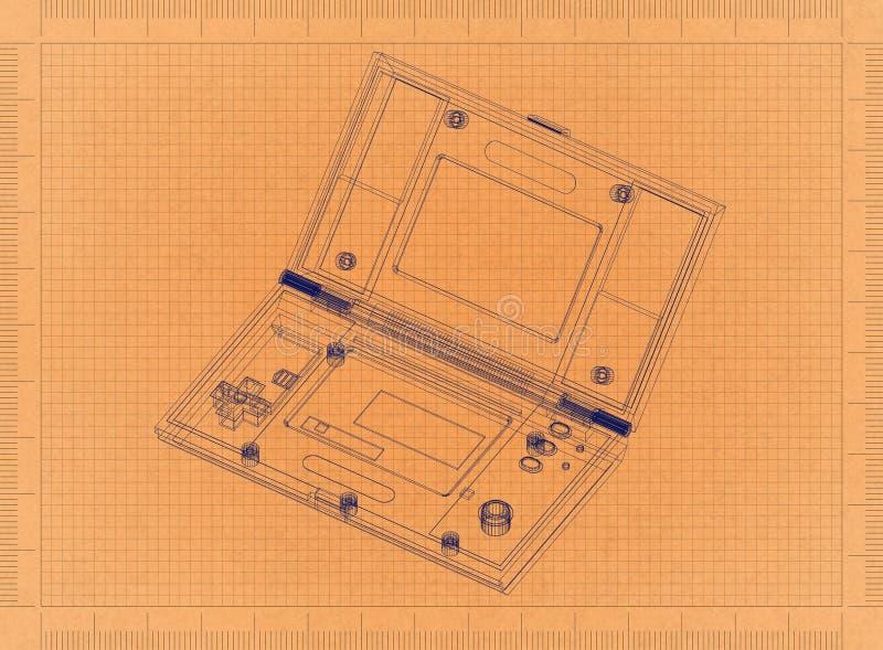Taschen-Konsole - Retro- Plan lizenzfreie abbildung