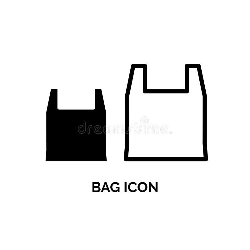 Taschen-Vektor-Ikone stock abbildung