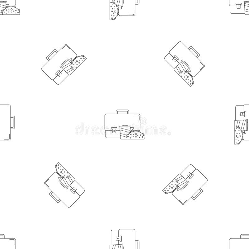 Taschenkolabaum cheesburger Ikone, Entwurfsart lizenzfreie abbildung