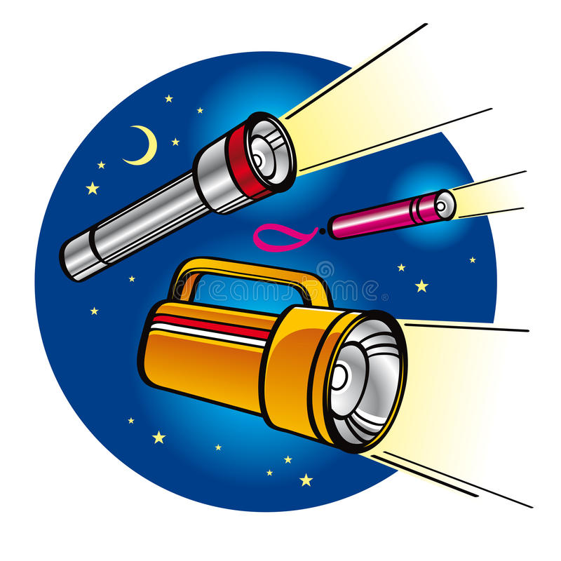 Taschenlampen vektor abbildung
