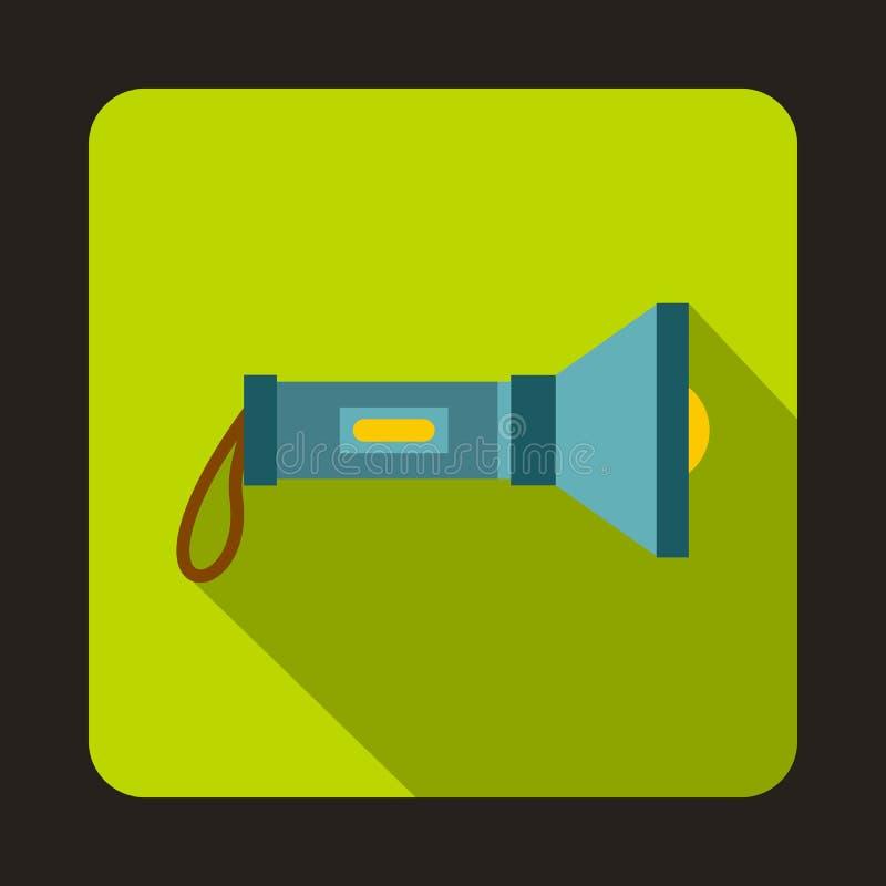 Taschenlampenikone, flache Art vektor abbildung