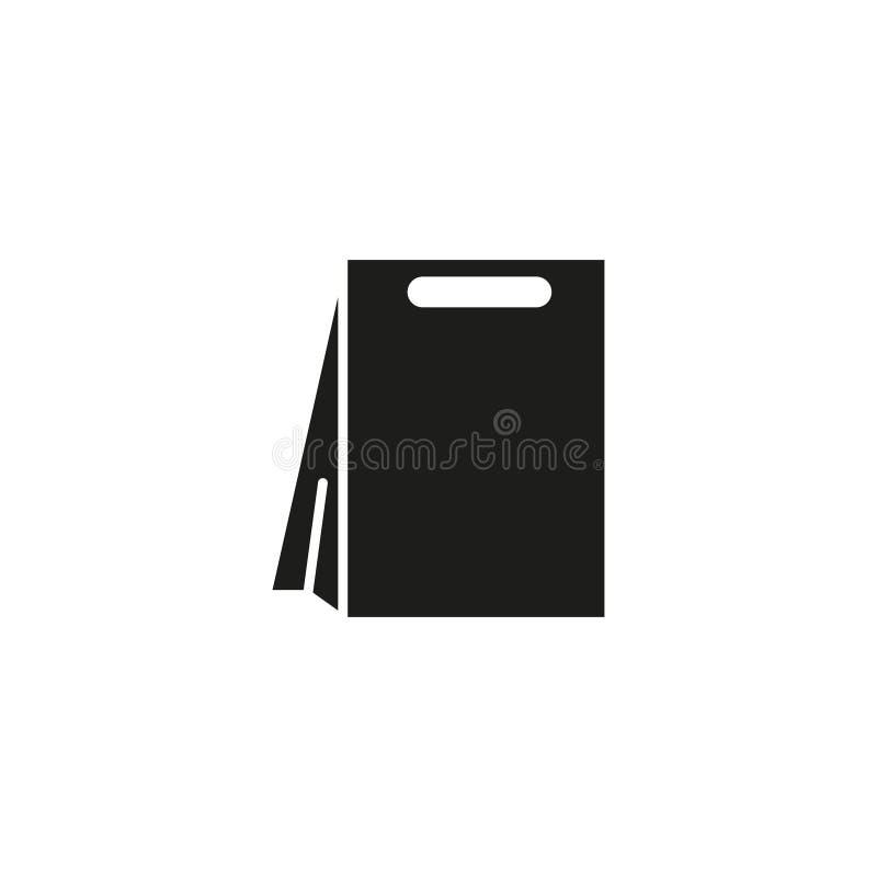 Taschenpaket-Shopikone lizenzfreie abbildung