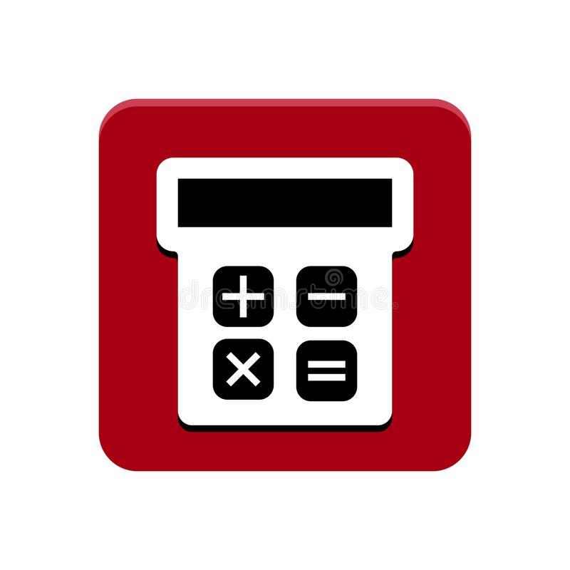 Taschenrechner-APP-Knopf vektor abbildung