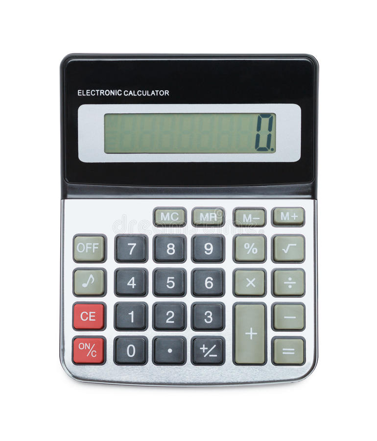Taschenrechner auf Draufsicht lizenzfreies stockbild