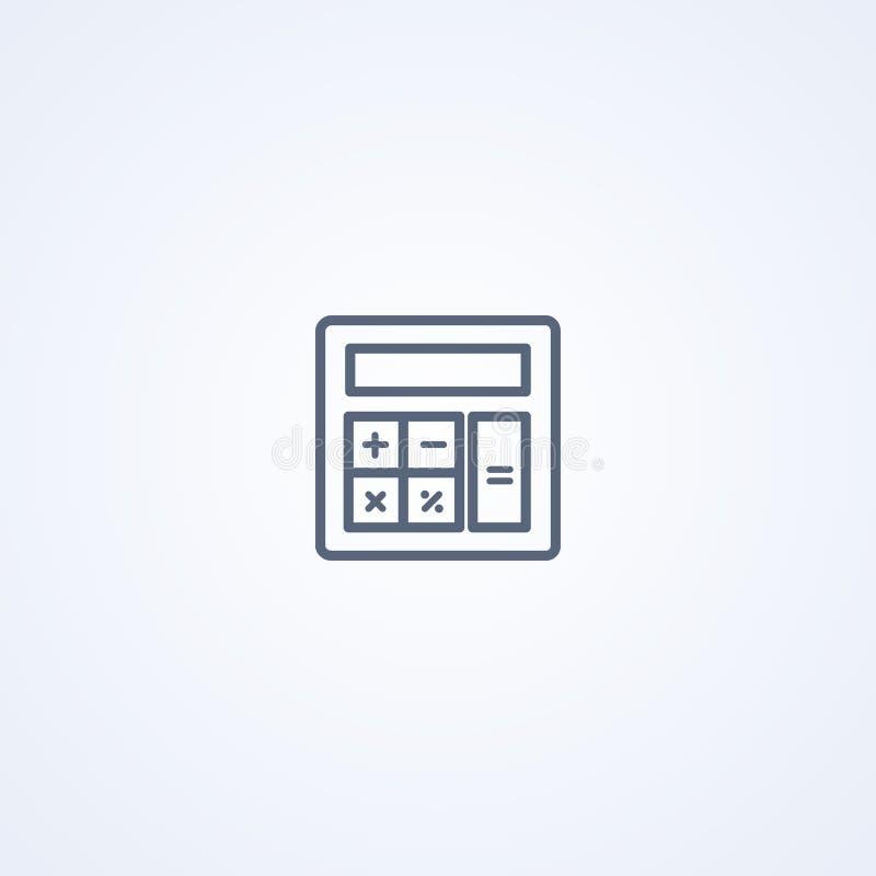Taschenrechner, beste graue Linie Ikone des Vektors vektor abbildung