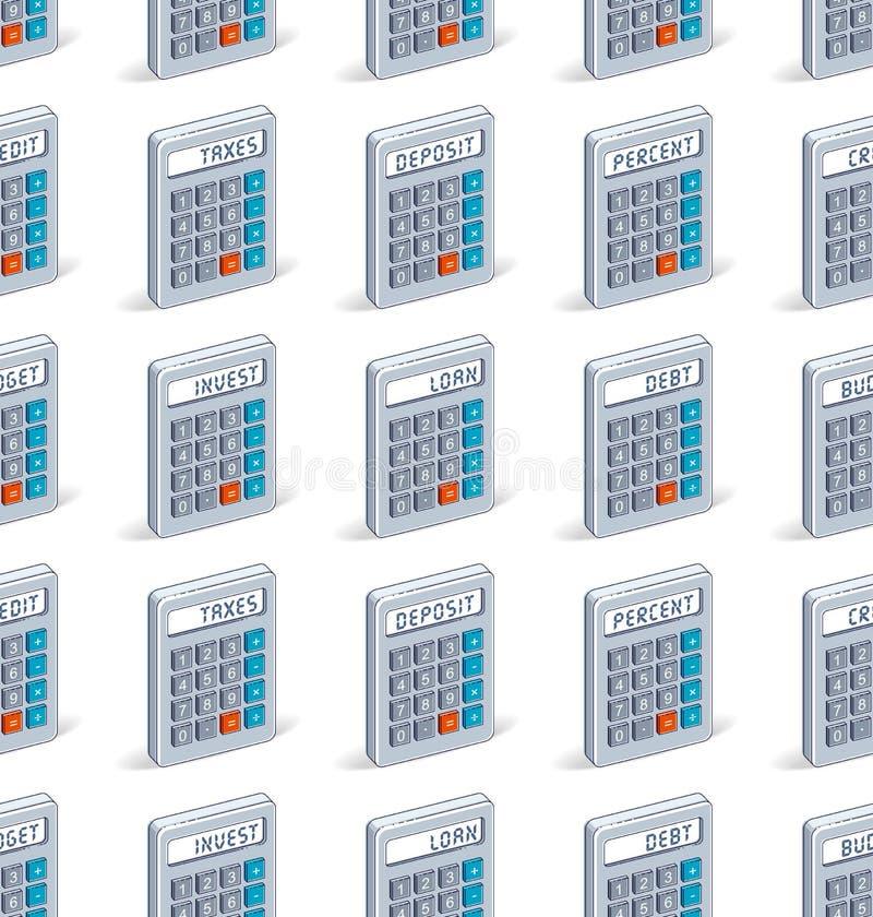 Taschenrechner nahtloser Hintergrund, Hintergrund für Steuern oder erklärende Website lizenzfreie abbildung