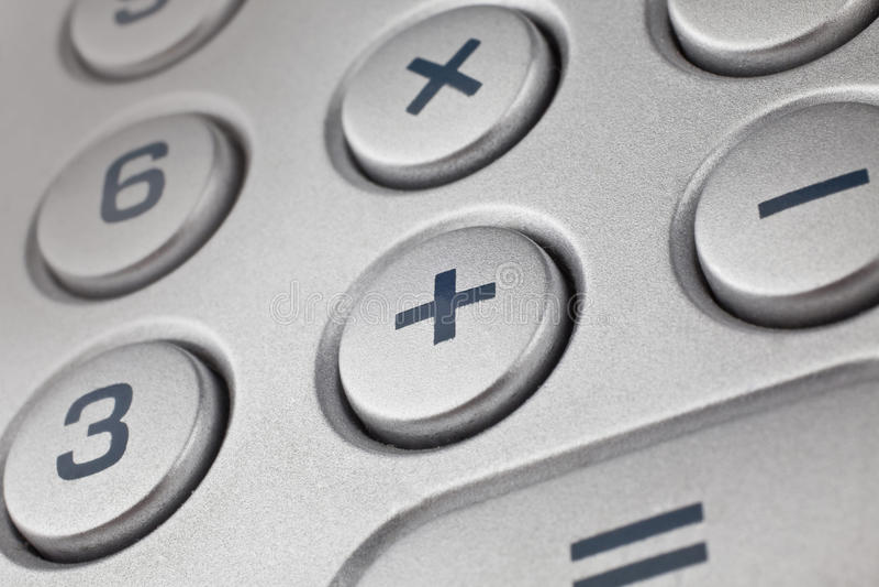 Taschenrechnerdetail stockfoto