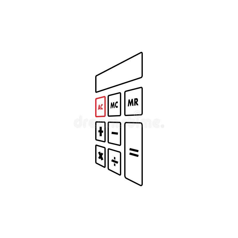 Taschenrechnergrafikdesign-Schablonenvektor lokalisierte stock abbildung