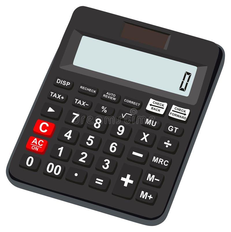 Taschenrechnerikone grundlegend und einfach für Büronutzung stock abbildung