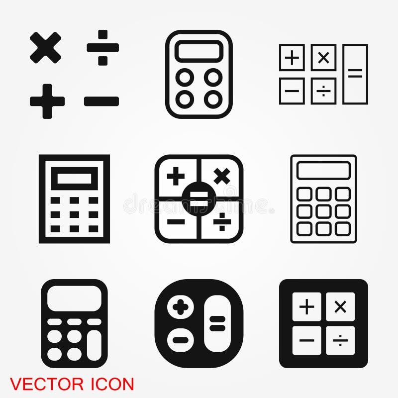 Taschenrechnerikonenvektor Einsparungen, Finanzen unterzeichnen, Wirtschaftskonzept vektor abbildung