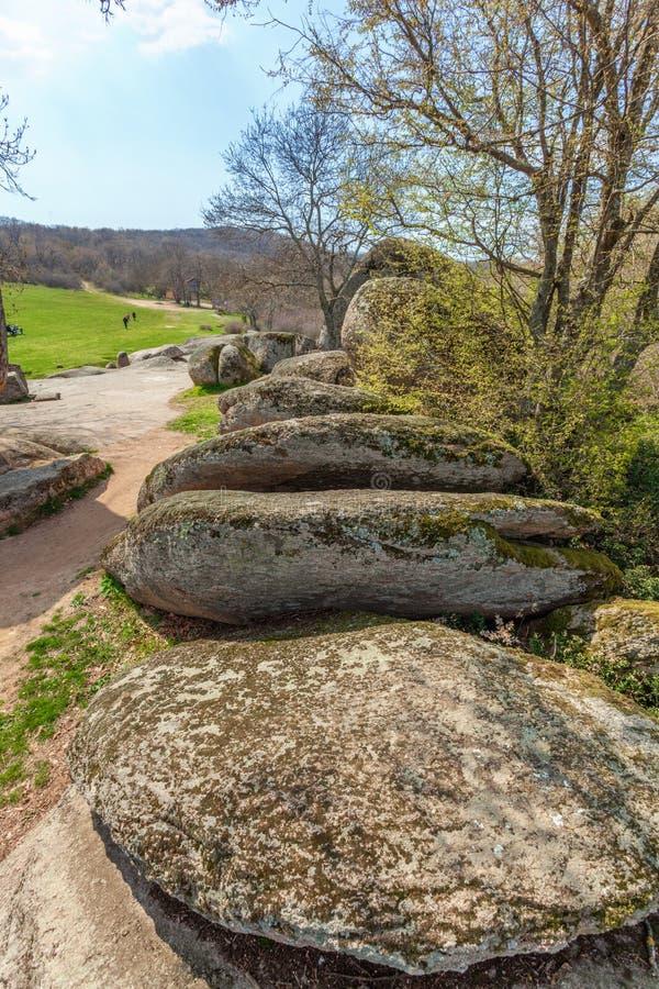 Tash de Beglik - santuário megalítico antigo de Thracian foto de stock royalty free