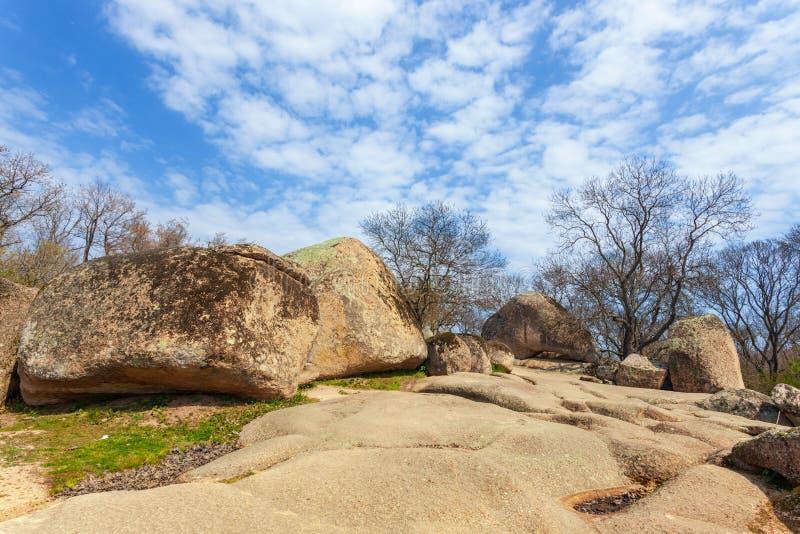 Tash de Beglik - santuário megalítico antigo de Thracian imagens de stock