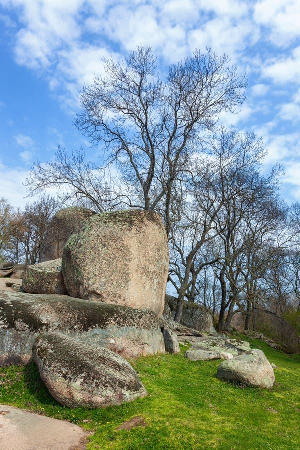 Tash de Beglik - santuário megalítico antigo de Thracian fotos de stock