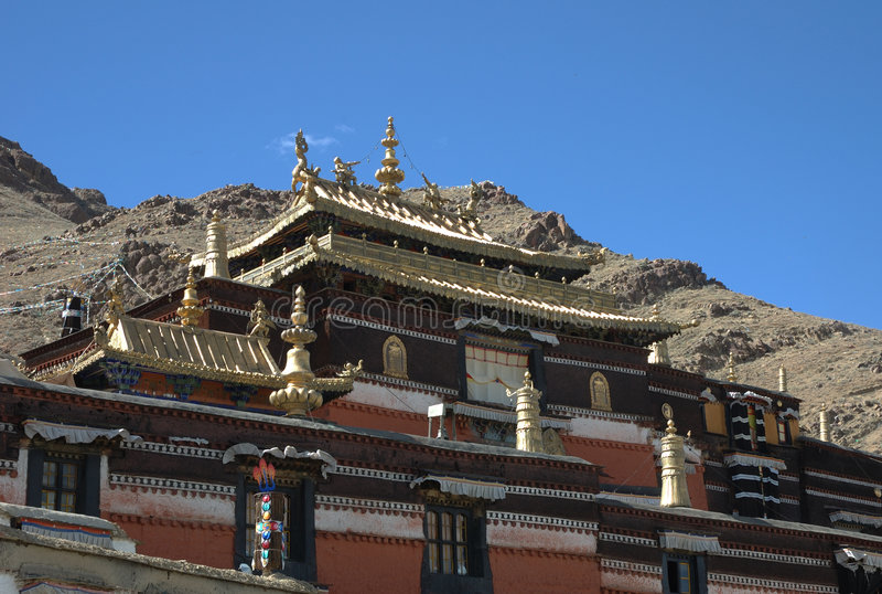 Tashilhunpo Kloster stockbilder