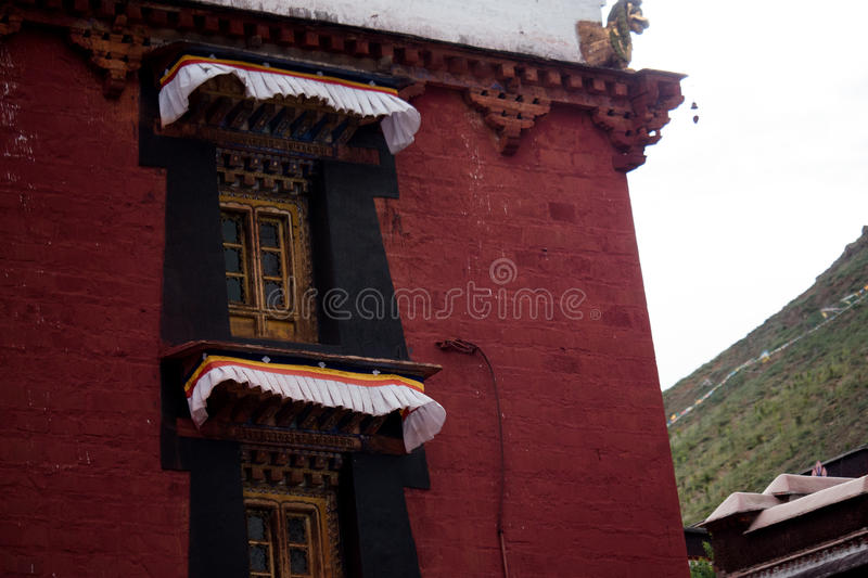 Tashilhunpo Monastery Shigatse Tibet. Tashilunpo Monastery as one of the six Gelug monasteries is the seat of successive Panchen Lamas. Founded by the First stock photos