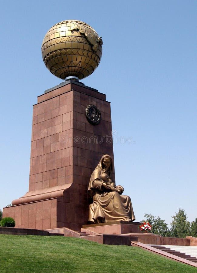 Tashkent Happy Mother Monument 2007 stock photo