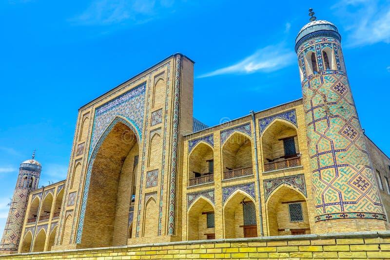 Tashkent Kukeldash Madrasa 02. Tashkent Kukeldash Madrasa Main Gate Entrance Iwan Picturesque Breathtaking Side Viewpoint royalty free stock photography