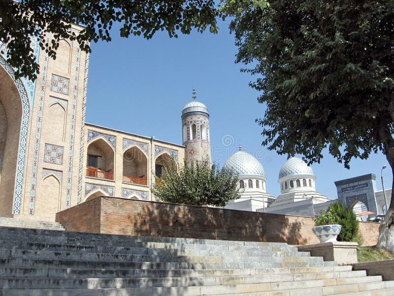 Tashkent Kukeldash Madrassah i Juma Meczetowy Wrzesień 2007 fotografia royalty free